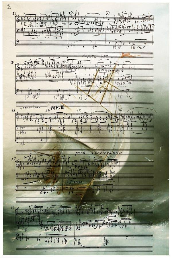 Sinfonía del océano libre illustration