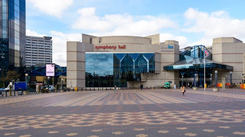 Sinfonía Hall Birmingham West Facade foto de archivo libre de regalías