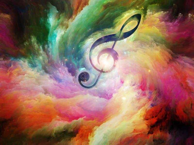 Sinfonia da cor ilustração do vetor