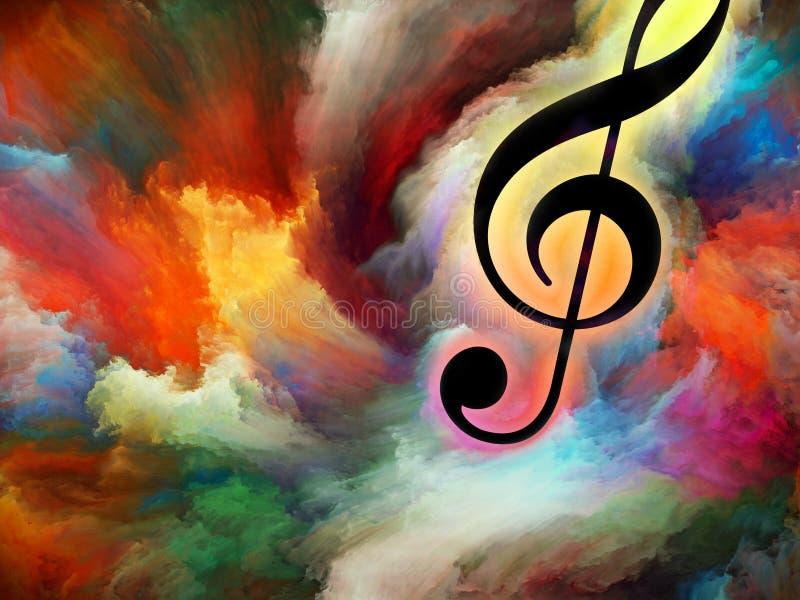 Sinfonia da cor ilustração royalty free
