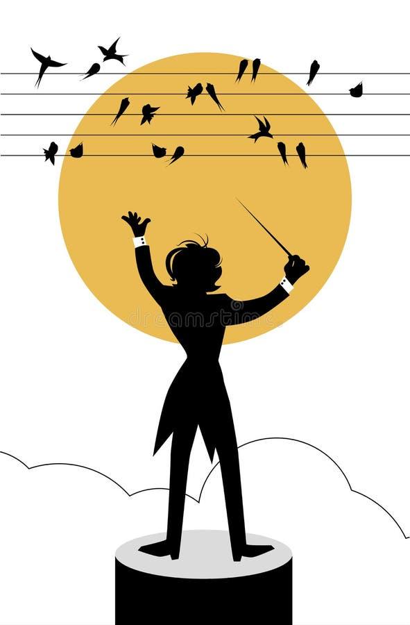 Sinfonia das andorinhas ilustração stock