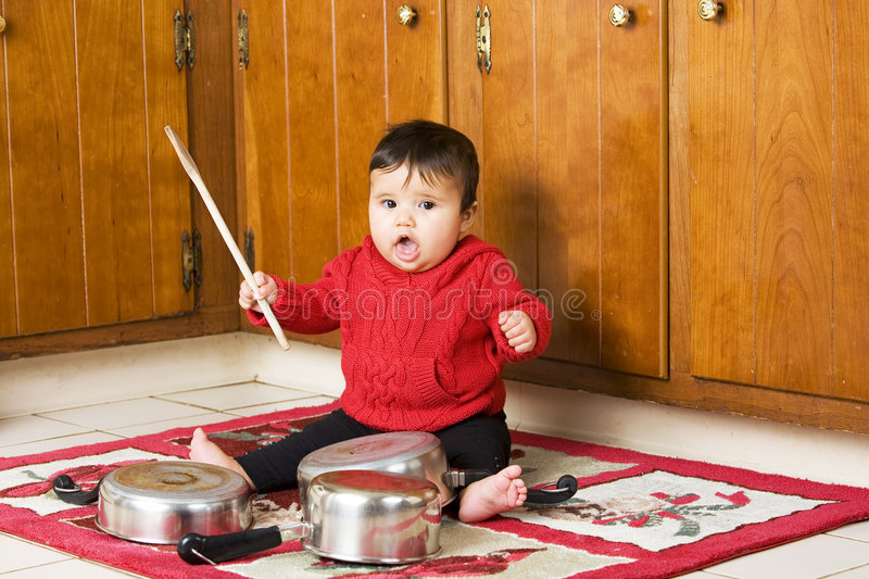 Download Sing-Along stock photo. Image of little, kitchen, beat - 7695142