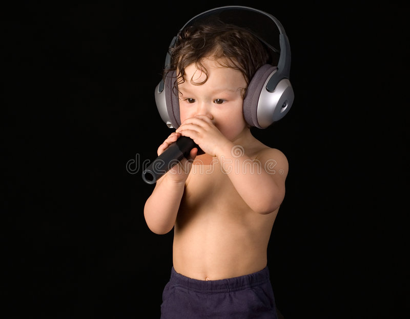 Download Sing baby. stock photo. Image of human, beautiful, happy - 3950386