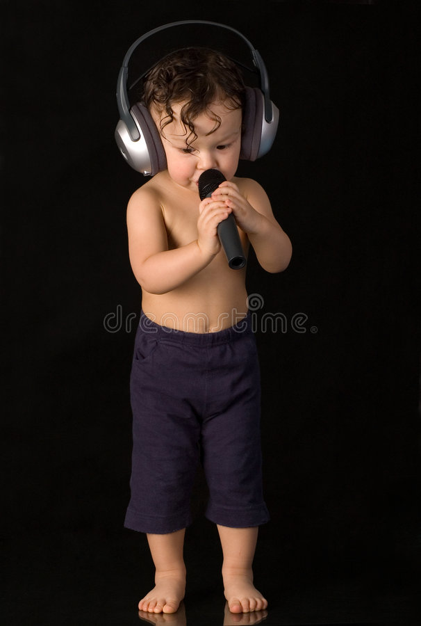 Sing Baby. Royalty Free Stock Photo