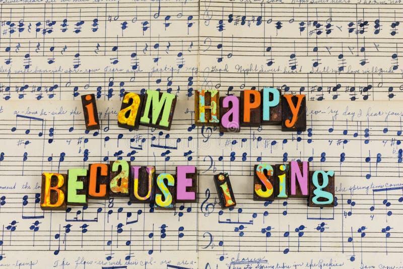 Sing singing happy days royalty free illustration