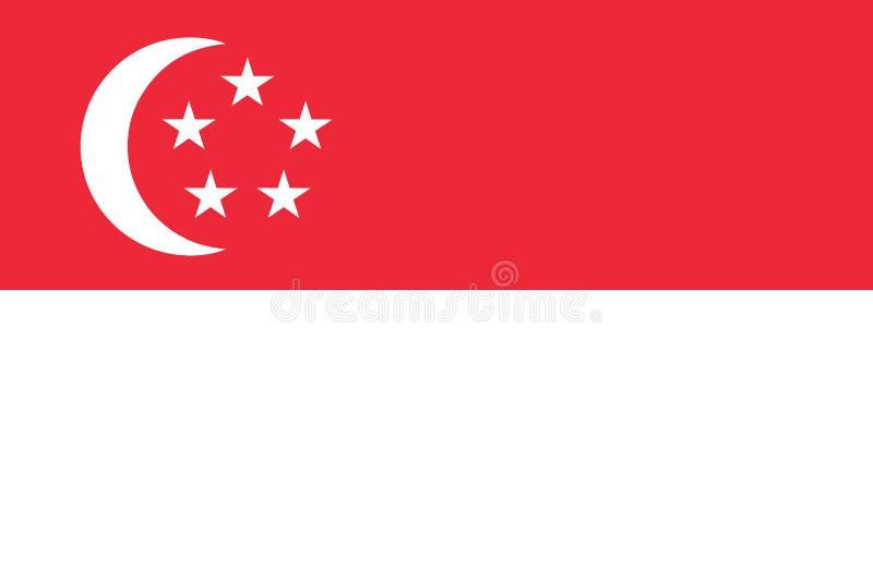 Singapore è un membro di CEA della comunità economica del Asean Bandiera nazionale di Singapore royalty illustrazione gratis