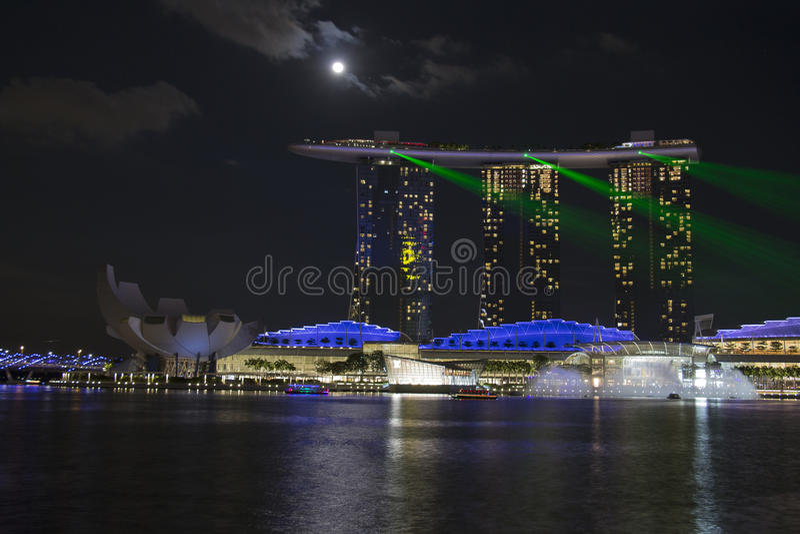 Singapore övresikt royaltyfria foton