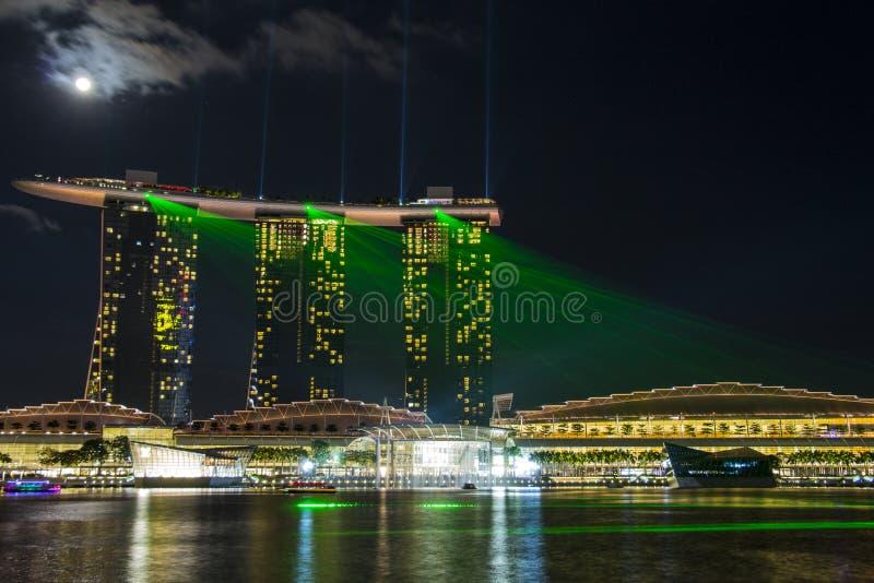Singapore övresikt arkivbilder