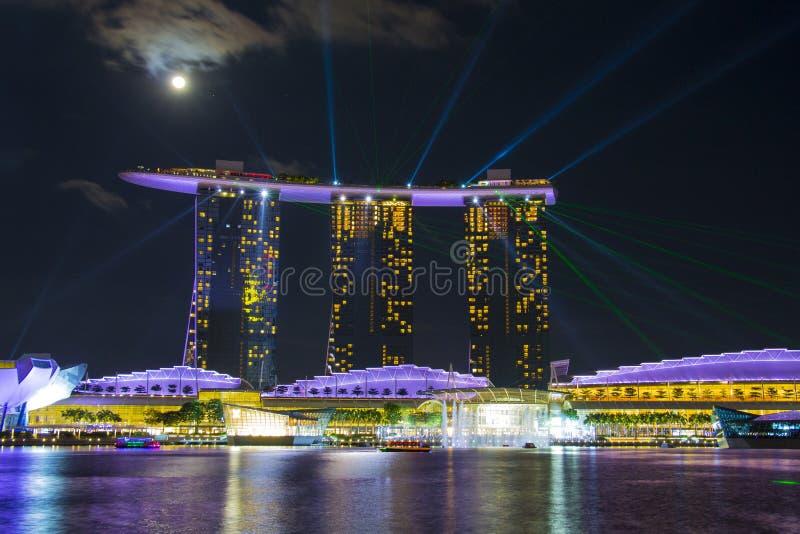 Singapore övresikt royaltyfri foto