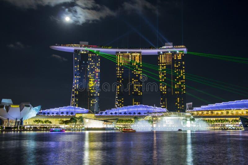Singapore övresikt royaltyfri fotografi