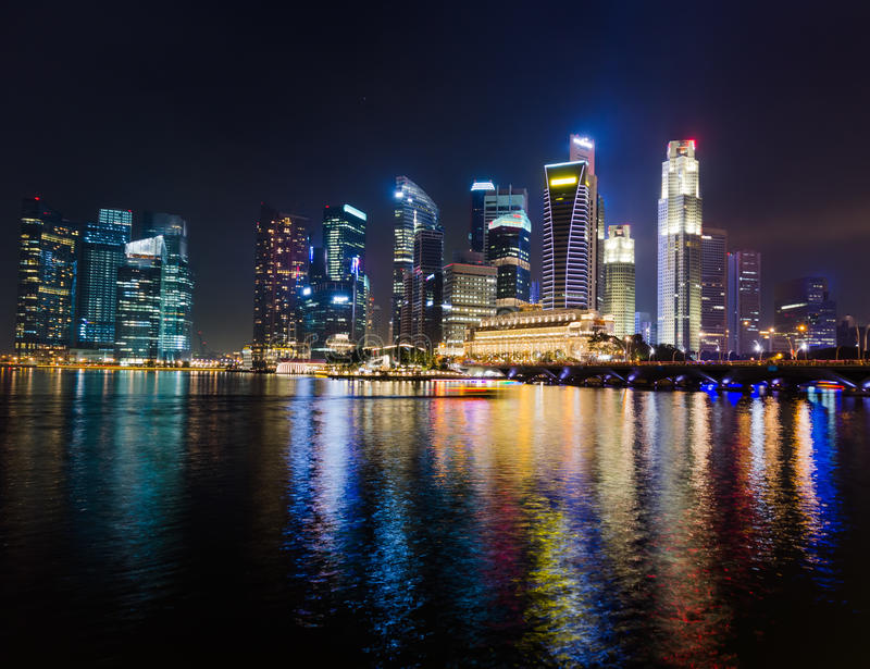 Download Singapore stock image. Image of finance, famous, building - 26555125