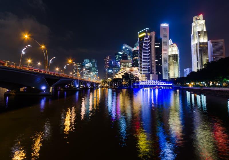 Download Singapore stock photo. Image of dusk, finance, light - 26708836