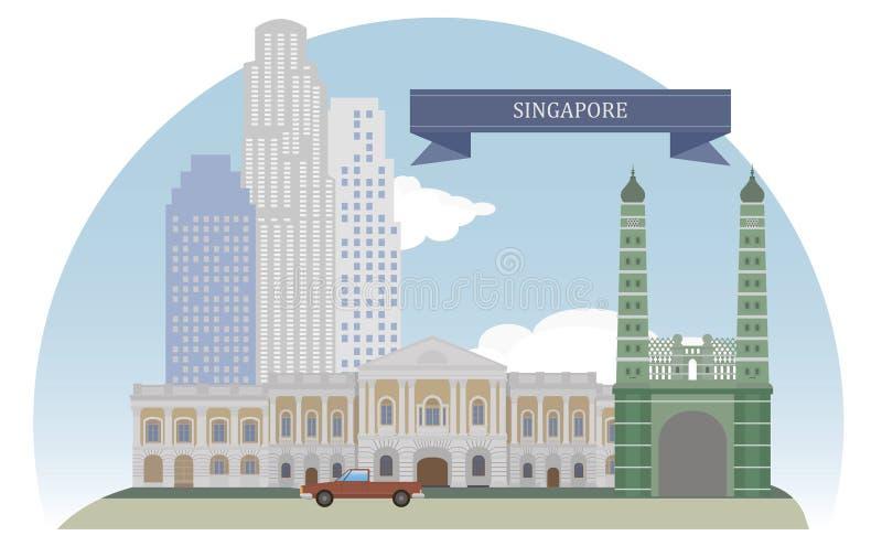 Singapore illustrazione vettoriale