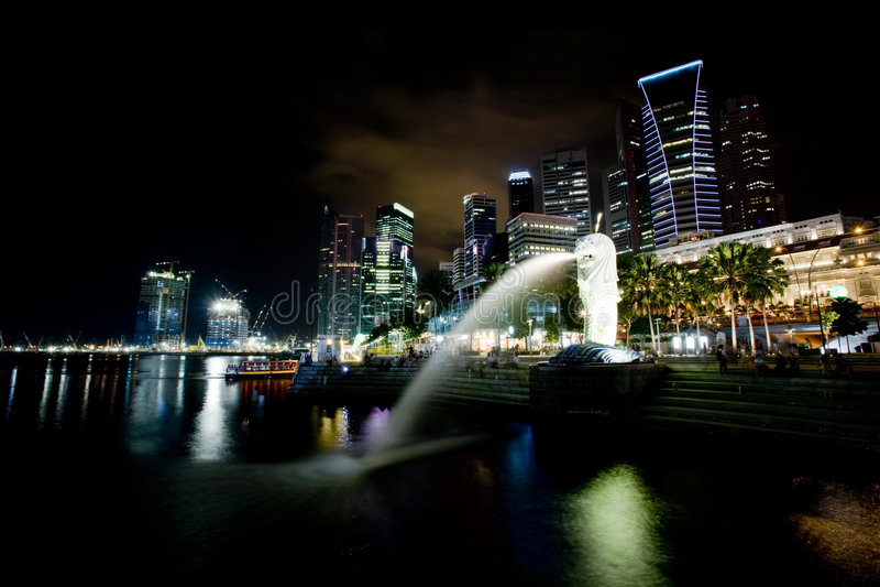 singapore royaltyfri bild