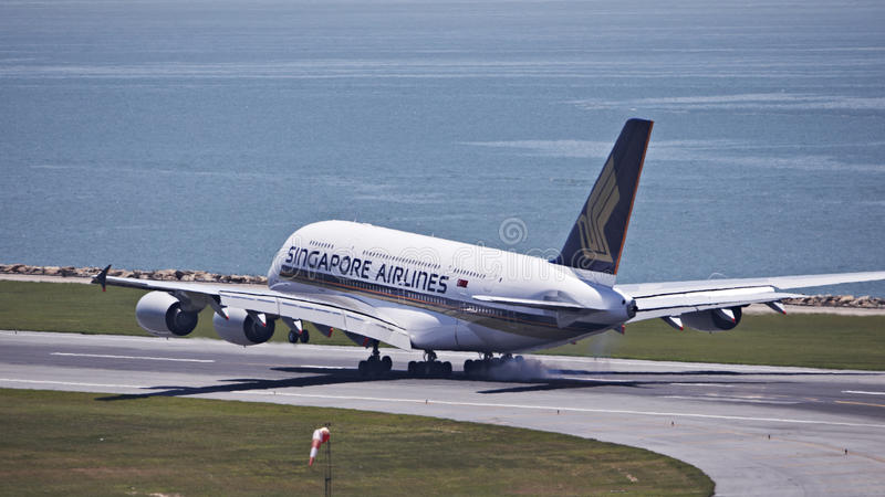 Download Singapore Airline A380 editorial photo. Image of aircraft - 38811251