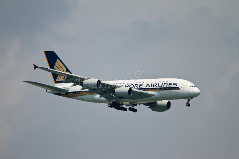 Singapore airlines royalty free stock image
