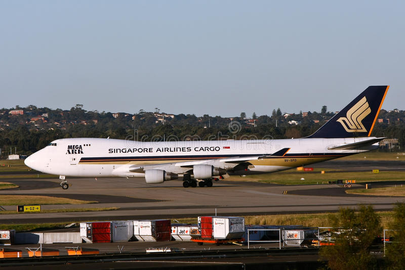 Singapore Airlines 747 Cargo jet royalty free stock images