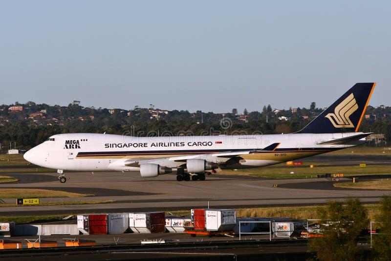 Singapore Airlines 747 de straal van de Lading royalty-vrije stock afbeeldingen