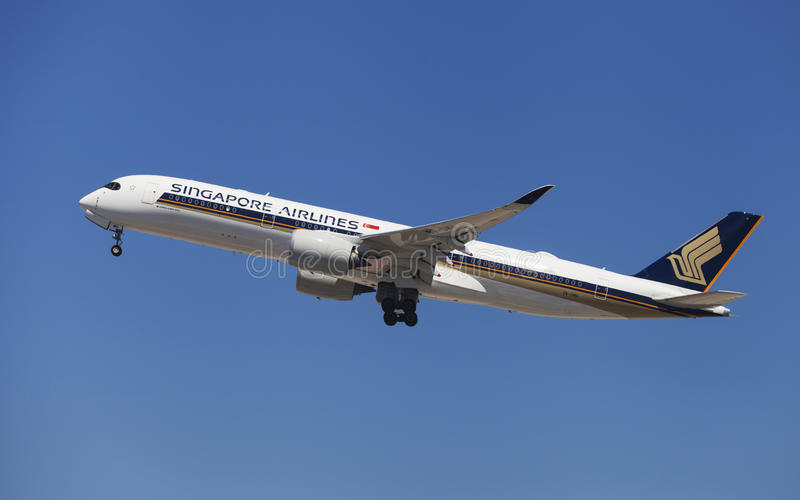 Singapore Airlines Airbus A350-900 fotografia stock libera da diritti