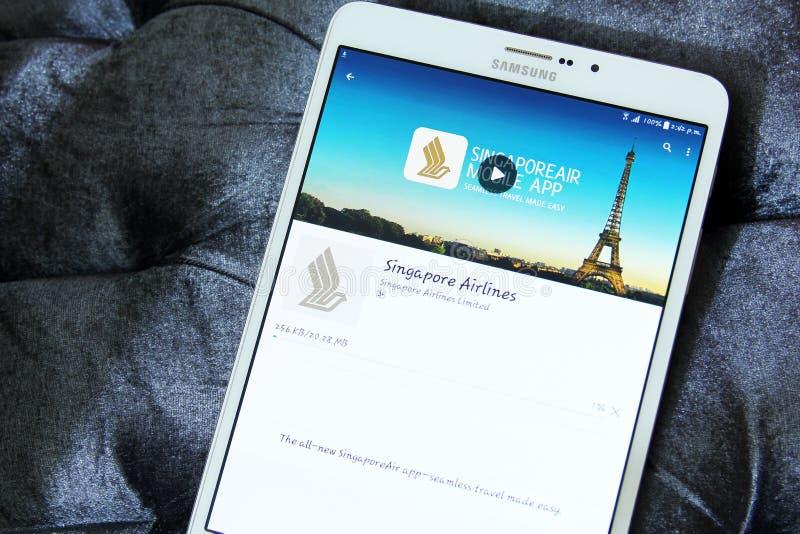 Singapore Airlines app logo arkivbilder