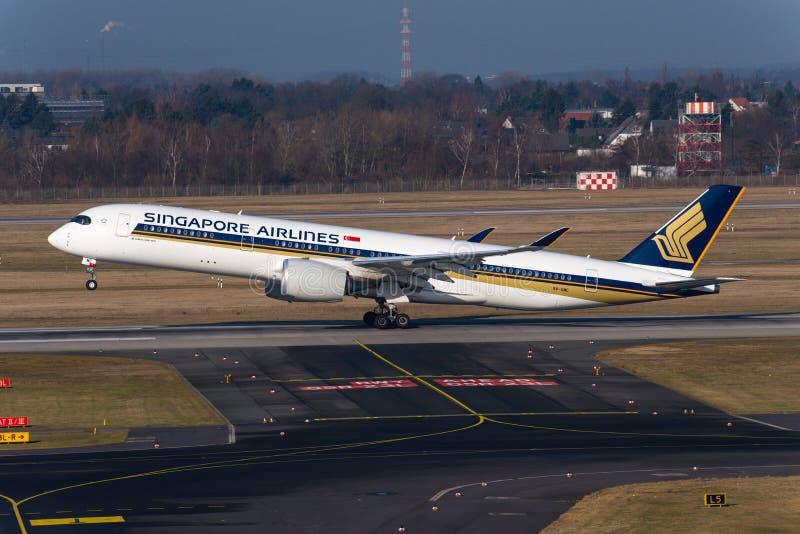 Singapore Airlines flygbuss A350 arkivbild