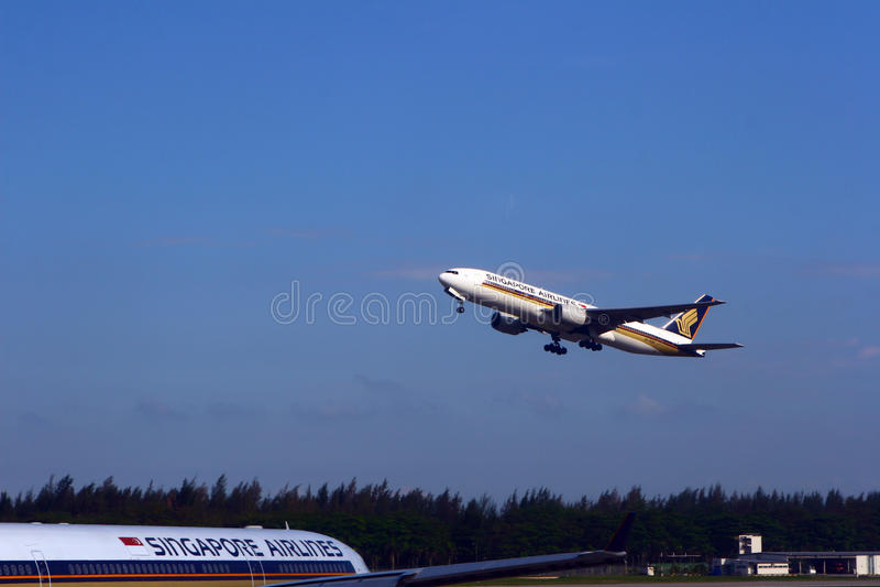 Singapore Airlines nivå arkivbild