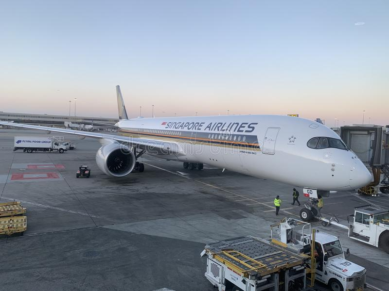 Singapore Airlines A350-900 ULR royalty free stock photography