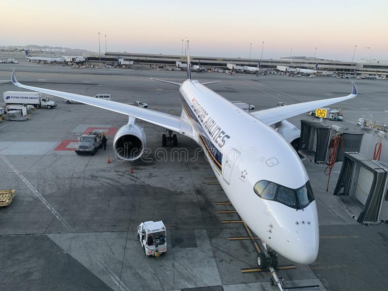 Singapore Airlines A350-900 ULR stock photography