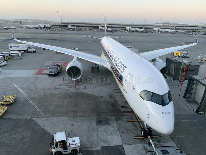 Singapore Airlines A350-900 ULR royalty free stock photos