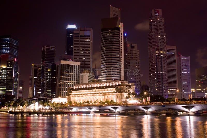 Singapore alla notte immagini stock