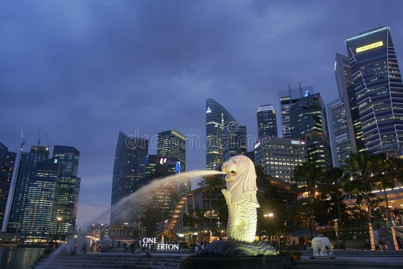 Singapore alla notte fotografia stock libera da diritti
