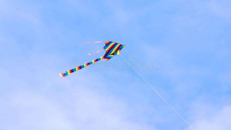 SINGAPORE - APR 3rd 2015: Kite flying at Marina Barrage. Marina Barrage is the water-supply place of Singapore and is royalty free stock photo