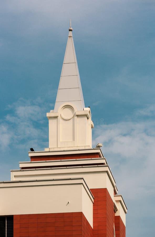 Singapore-02 april 2019: Kerk van Jesus Christ van Laatstgenoemde toren in Singapore stock foto's