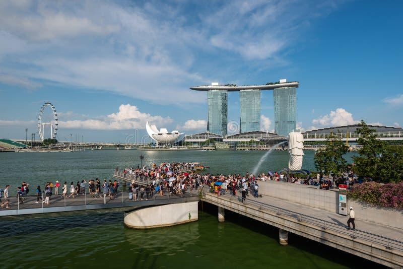 Singapore, Singapore - April 29, 2018: Marina Bay tourist attraction, Singapore stock photography