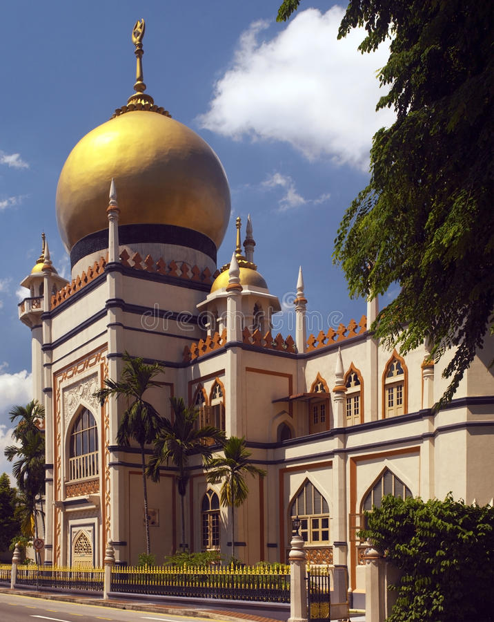 Singapore - Arab Street Mosque Royalty Free Stock Photo