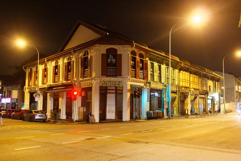 Singapore arvbyggnader arkivbild