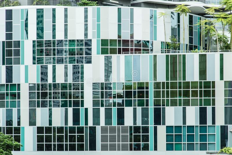 Singapore-13 AUG 2017: Ng Teng Fong General Hospital in Singapore building facade detail royalty free stock photo