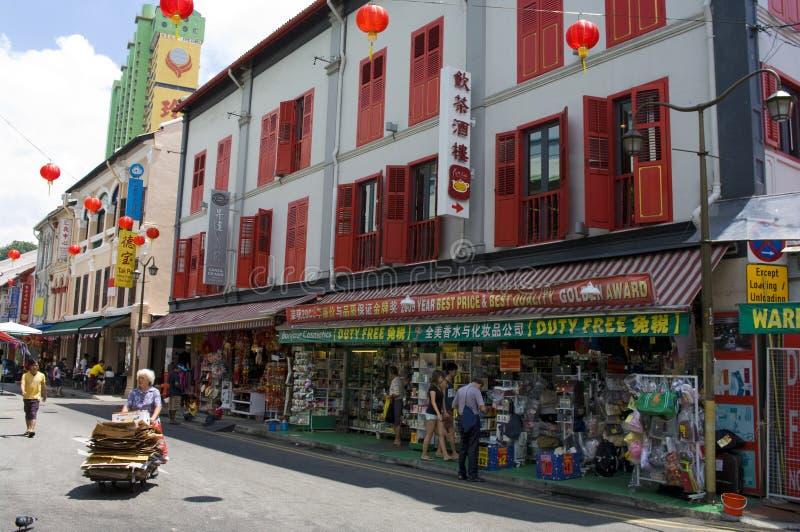 Singapore Chinatown Obraz Editorial