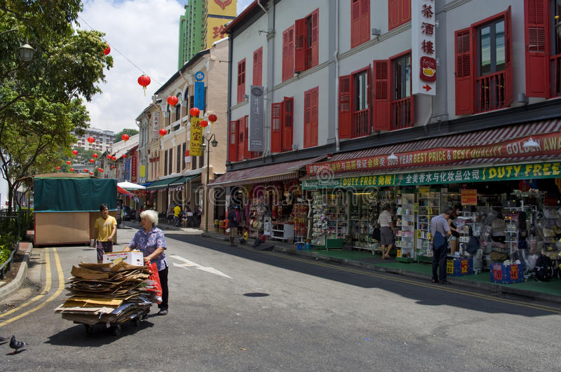 Download Singapore's Chinatown editorial photo. Image of alley - 30018251