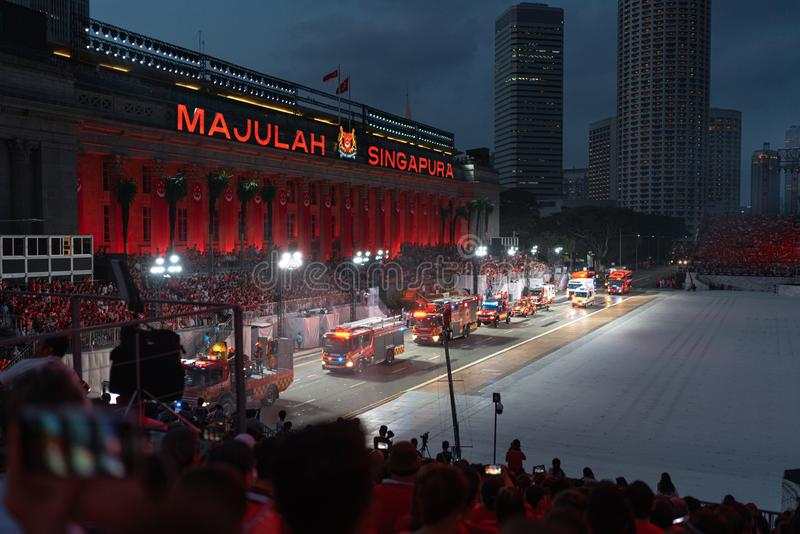 Singapore August 9th 2019, National Day Parade, Police