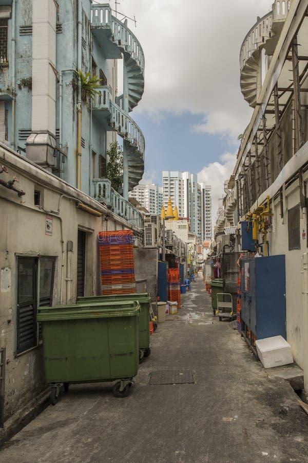 Singapore back street royalty free stock photo