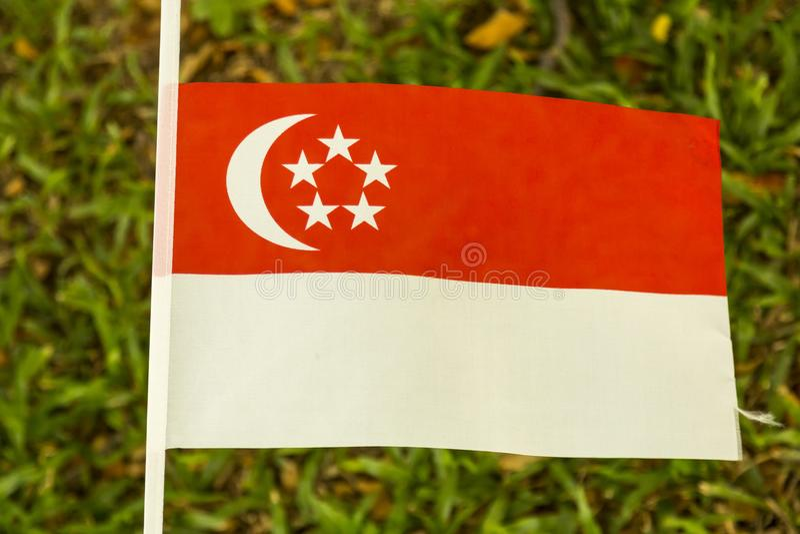Singapore bandery zdjęcia royalty free