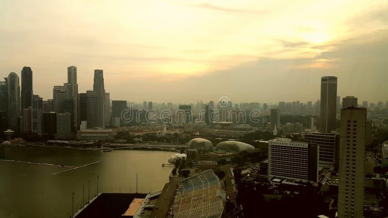 Singapore Bay Sunset stock photography