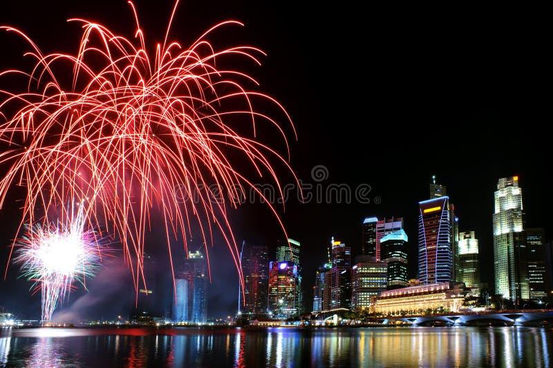 Singapore berömmar royaltyfria bilder