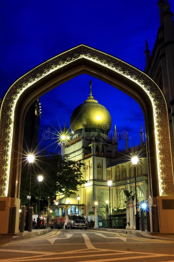 Download Singapore:Blue Hour Shot Of Masjid Sultan Singapura Mosque Editorial Stock Photo - Image: 34394663