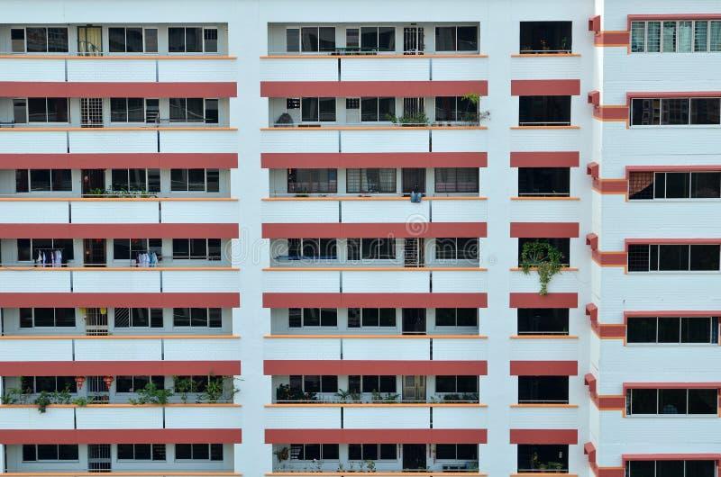 Singapore bostads- bostadsområde royaltyfri foto