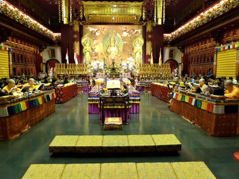 Singapore Buddhatempel royaltyfri fotografi