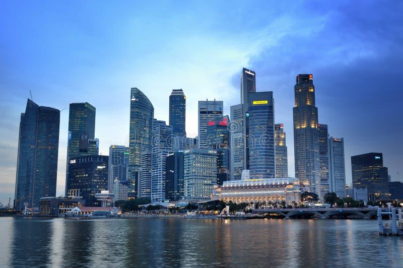 Singapore Business District Skyline Editorial Photo