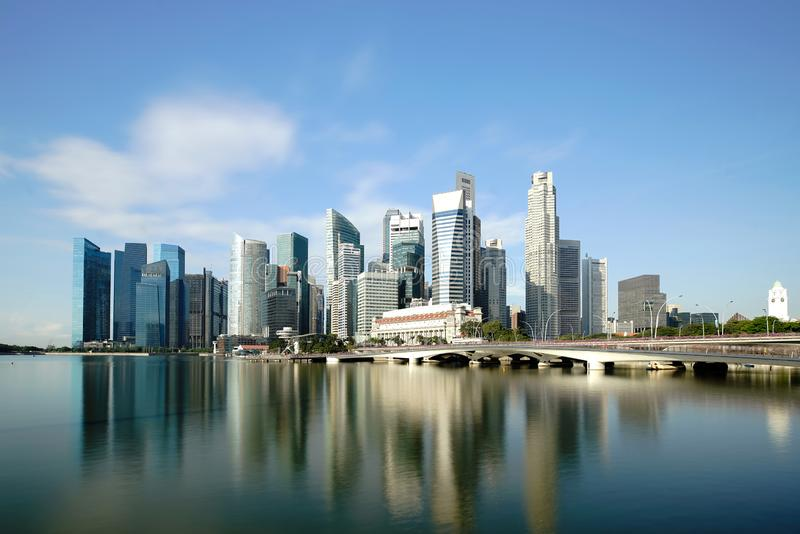 Singapore business district skyline financial downtown building with tourist sightseeing in day at Marina Bay, Singapore. Asian. Tourism, modern city life, or stock photos