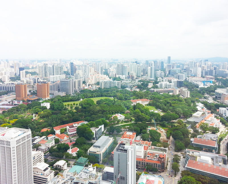 Singapore business district skyline. View of business district, Singapore stock photo